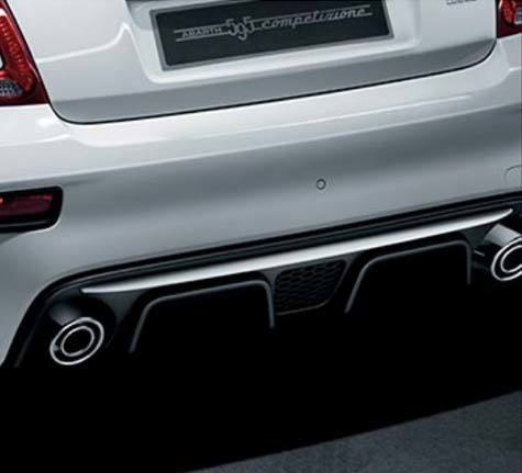 Dual exhaust in satin steel